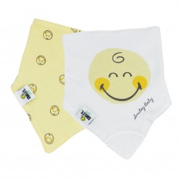 Bavoir bandana - Lot de 2 SMILEY BABY®