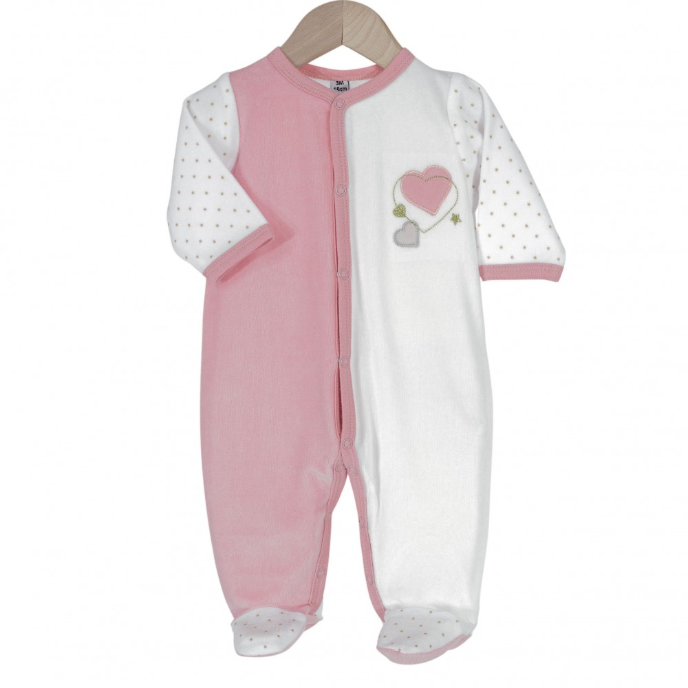 Pyjama bébé fille - Cœur d'Amour