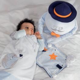 Gigoteuse garçon DREAM blanche/bleue 6-36 mois