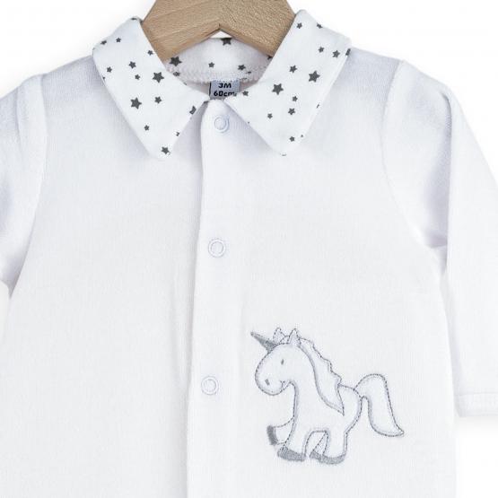 White and grey baby girl's pyjamas - Lili'Corne