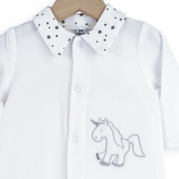 White and grey baby girl's pyjamas - Lili'Corne