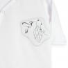 Pyjama bébé blanc et gris en velours PETITE MESANGE