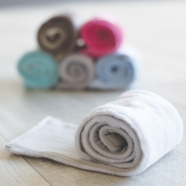 Sciarpa in pile per neonato- Fucsia