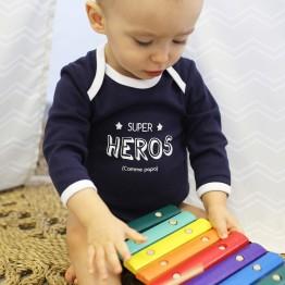 Body bebè maschietto - Supereroe (confezione da 3)