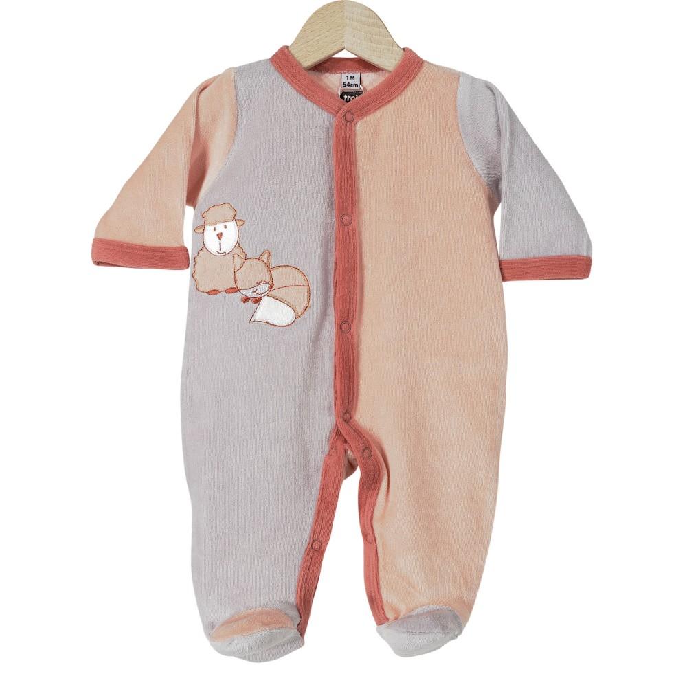 Pyjama bébé en velours - Renarde & Mouton