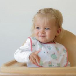 Lot de 7 bavoirs bébé 1er âge - Indien