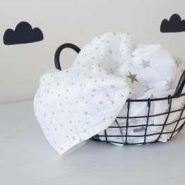 Large size nappy - white/grey (set of 2)