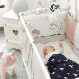 Girl cot bumper - Ophelia the unicorn