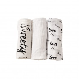 Set of 3 nappies 70x70 cm - Love