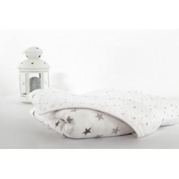 Grande couverture coton bébé - Rêve d'étoiles