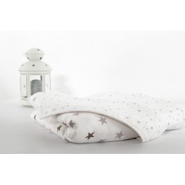 Large cotton baby blanket - Dream of stars