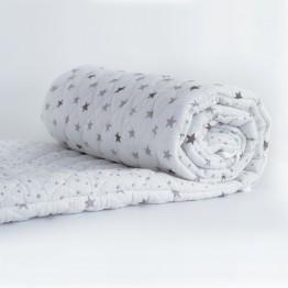 Tour de lit bébé blanc en coton - Rêve d'étoiles