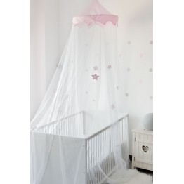 Mosquito net bed canopy - Pink Stars