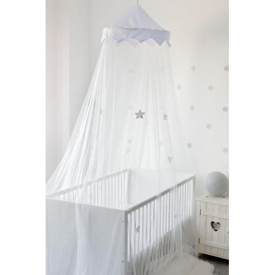 11) Mosquito net bed canopy - Blue Stars