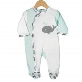 Baby cotton pyjamas - whale