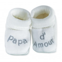 Chaussons naissance - Papa d'amour