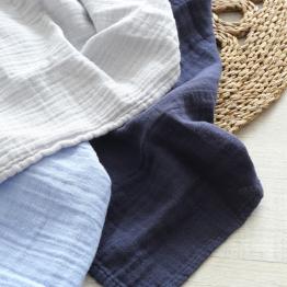 Confezione da 3 mussole per neonati – Blu pastello