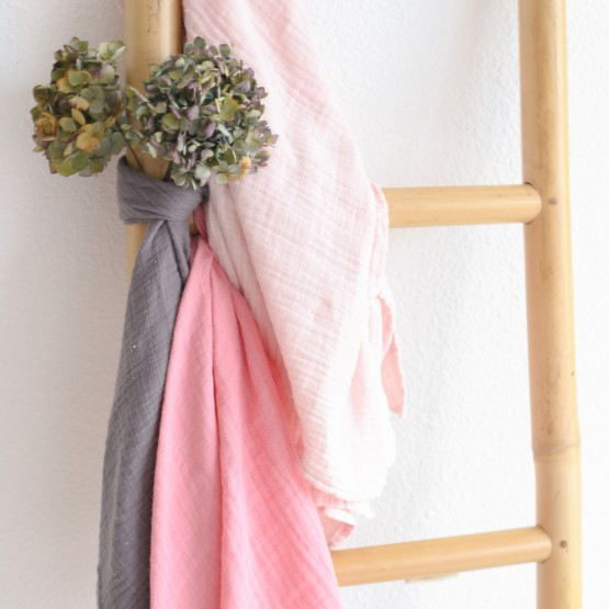Lot de 3 langes bébé - Rose pastel