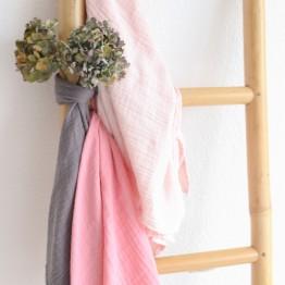 Confezione da 3 mussole per neonato – Rosa pastello