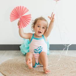 Baby girl bodysuit - Sea turtle