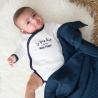 Lot de 3 langes bébé - Bleu pastel
