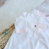 Pyjama bébé fille en velours - Mon amour