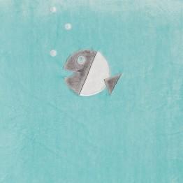 Tappeto per box 100x100 - Pesce