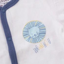 Pyjama naissance en velours - Petit lion