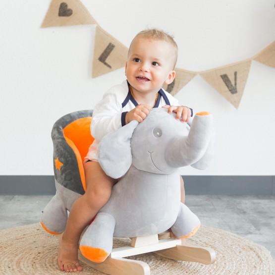 Peluche à bascule bébé - Eléphant