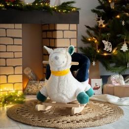 Peluche dondolo bambino – Il Lama e l'Orso