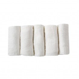 Baby nappy set pure cotton - x5 white