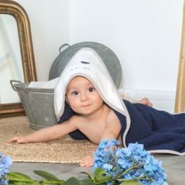 Cape de bain bébé + gant - Lamam'Ours