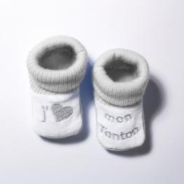 Chaussons naissance - Tonton