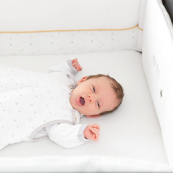 White baby sleeping bag - Between clouds and stars