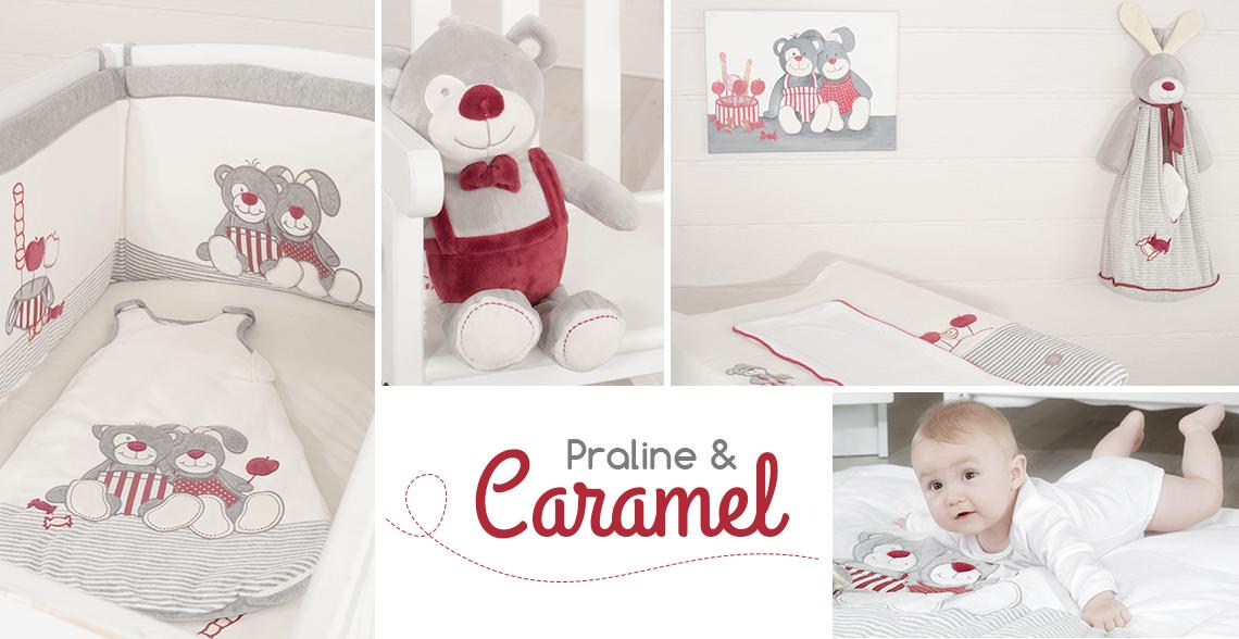 Linge de lit bébé mixte - Praline et Caramel