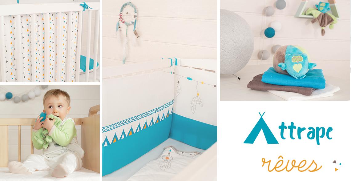 linge de lit bébé Attrape rêves - Kinousses