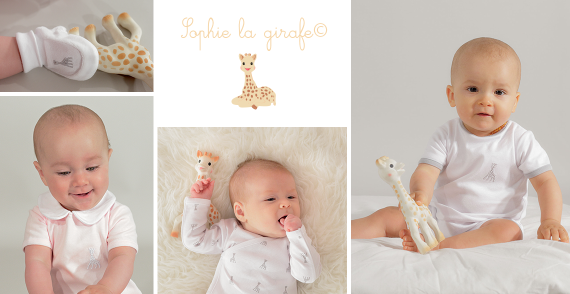collection layette Sophie la girafe - Kinousses - Bodies, pyjamas, brassière, chaussons